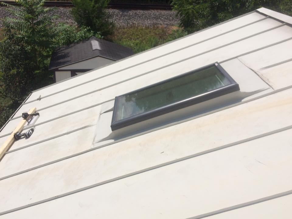 Skylight Replacement On A Double Lock Standing Seam Roof