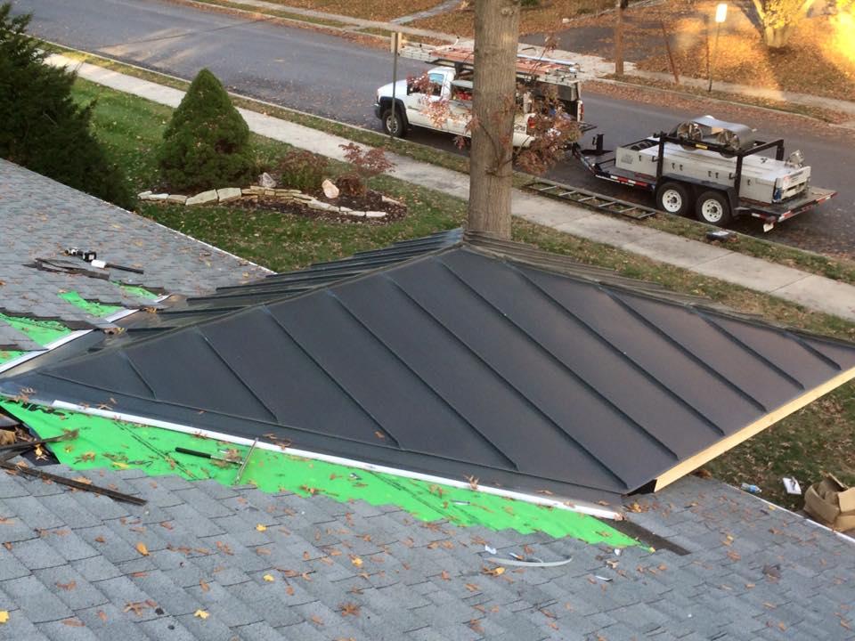 Rheinzink Graphite Gray Porch Roof In Chambersburg Pa