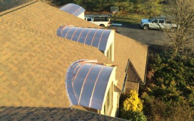 Copper double lock standing seam barrel dormers in Hagerstown, MD