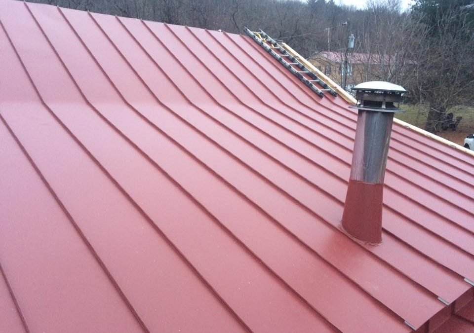Englert colonial red standing seam in Boonsboro, MD